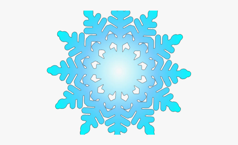 Teal clipart snowflake.