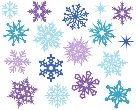Christmas snowflakes cute.
