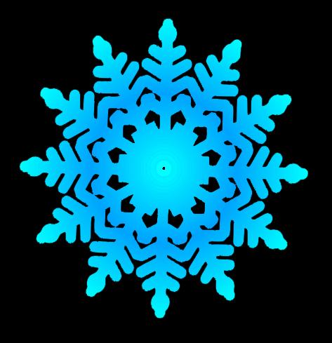 Cute snowflake clipart.