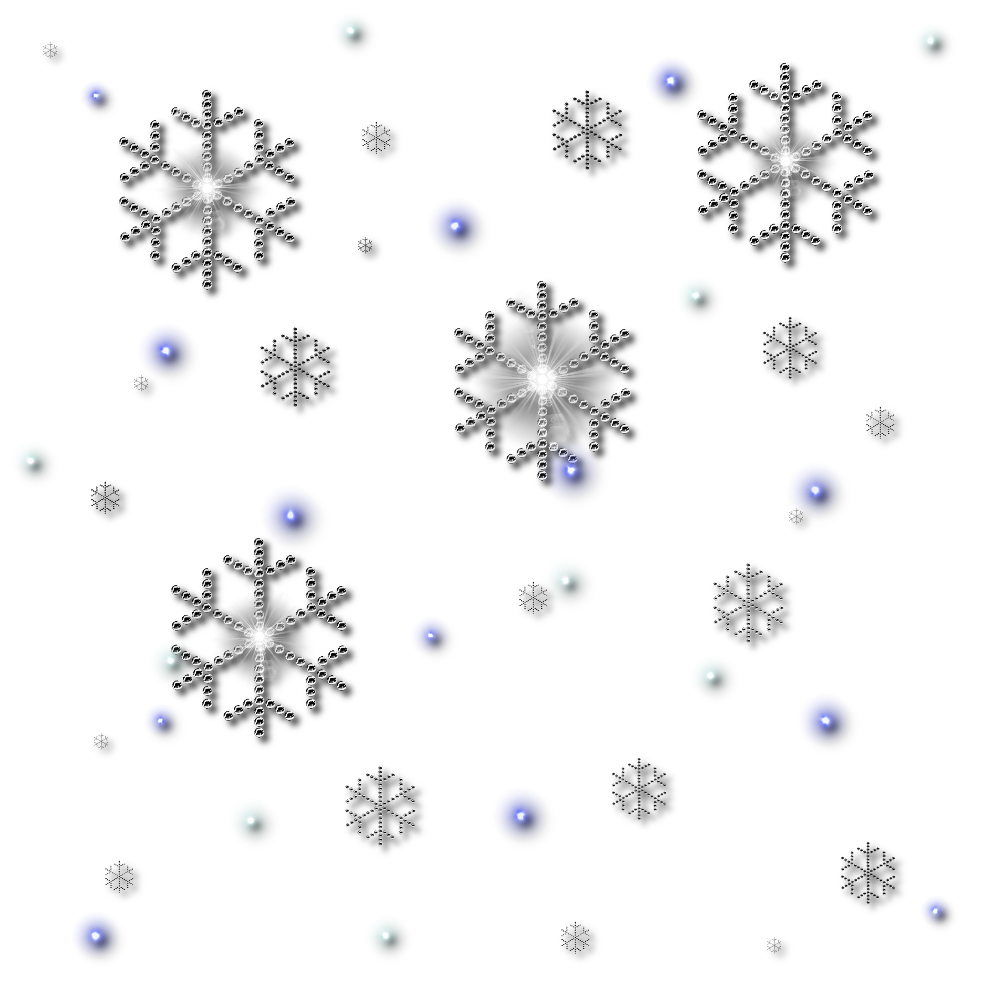 Png snowflakes falling.