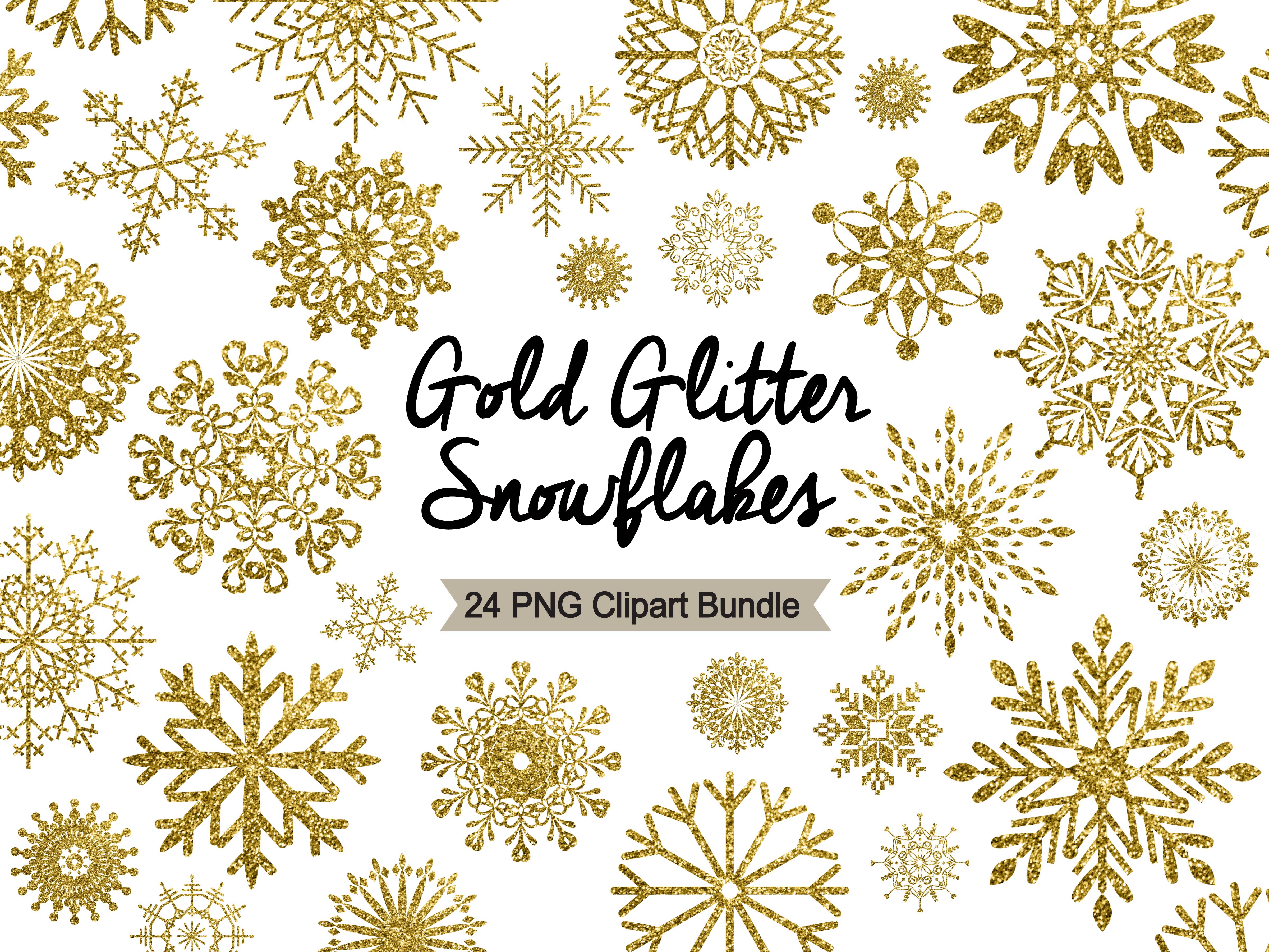 Snowflake clipart gold.