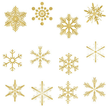 Gold snowflakes clipart.