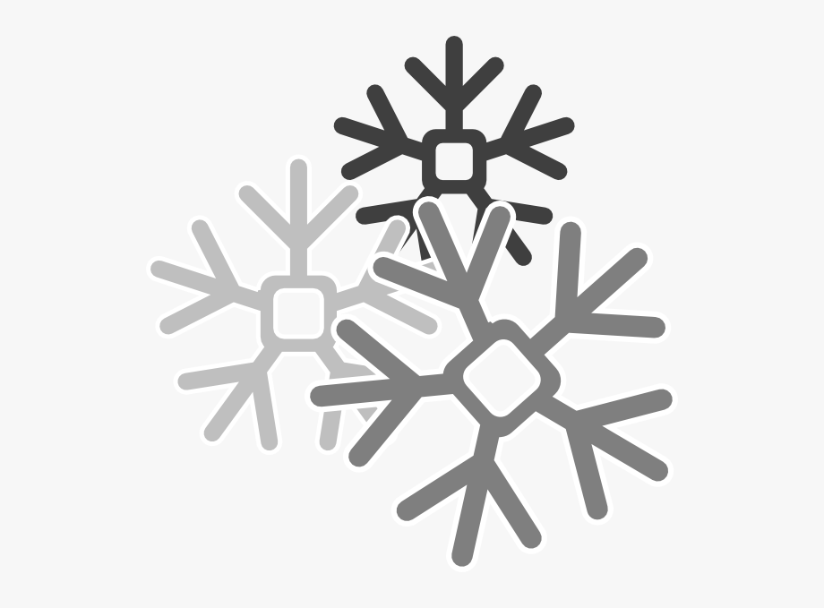 Gray snowflakes clip.