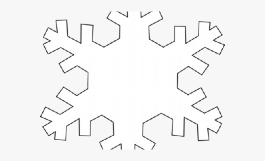 Snowflakes clipart outline.