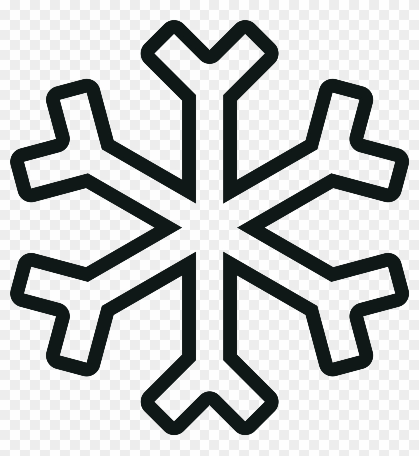 Snowflake clipart outline.