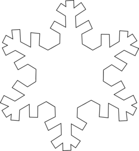 Snowflake outline clip.