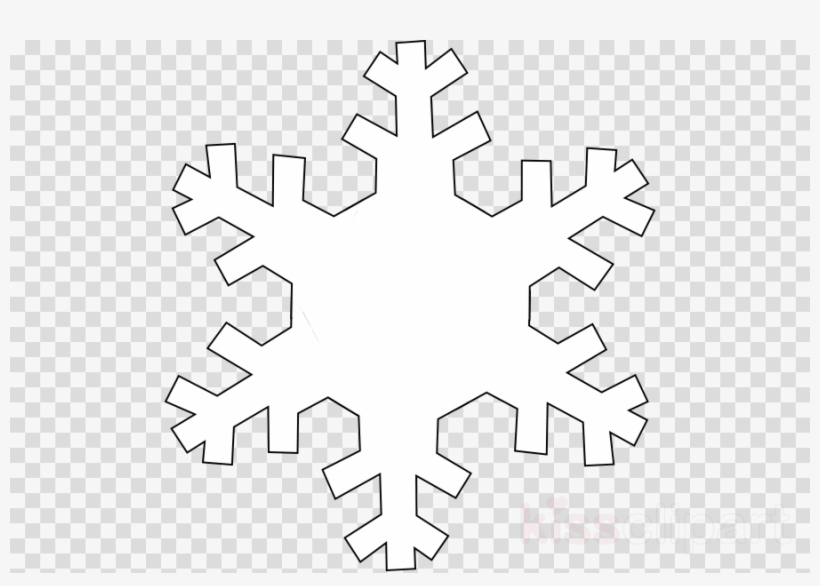 Snowflake outline clipart.