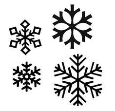 Snowflake silhouettes vectors.