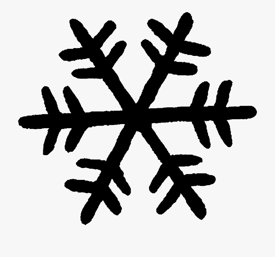 Snowflakes clipart silhouette.