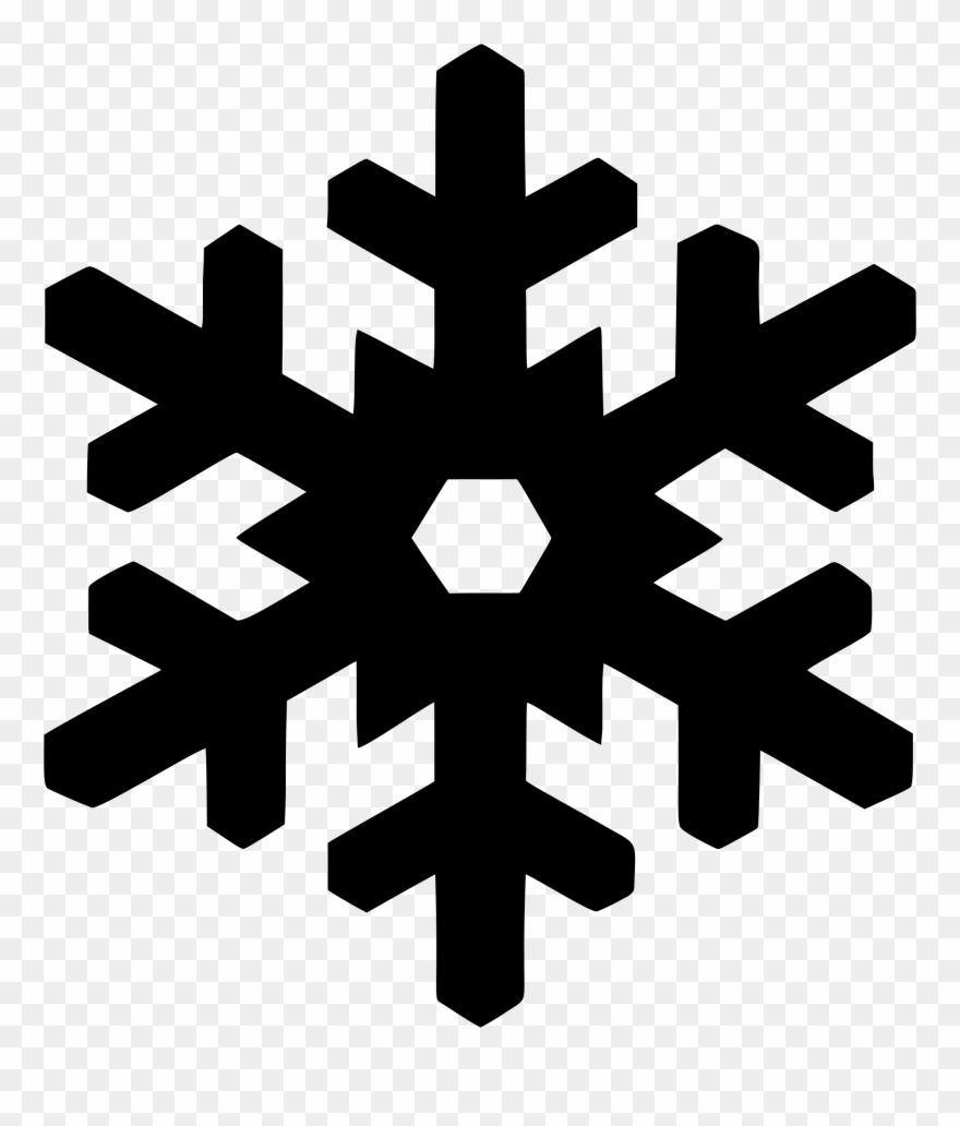 Snowflake silhouette computer.