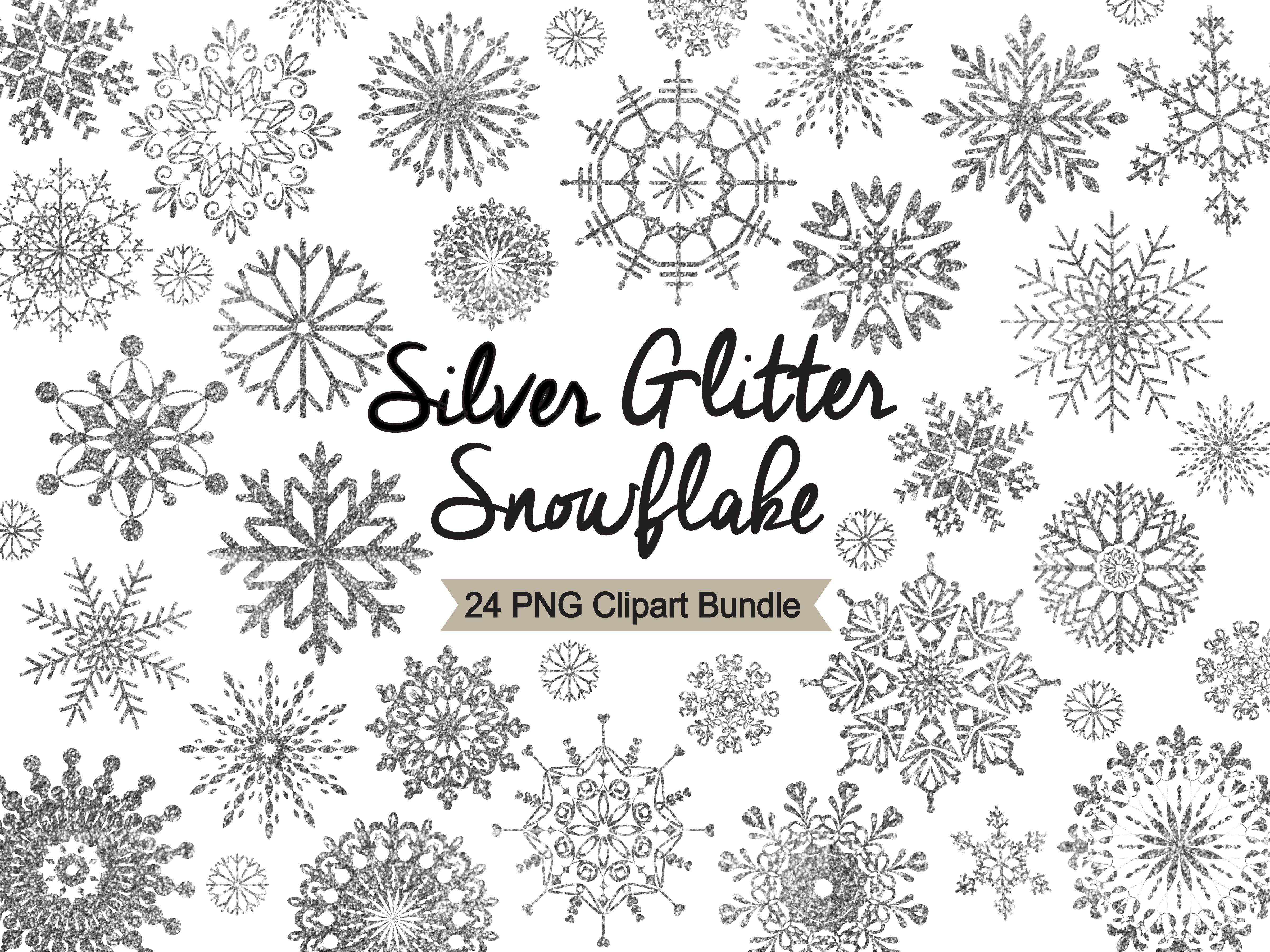 Snowflake clipart silver.