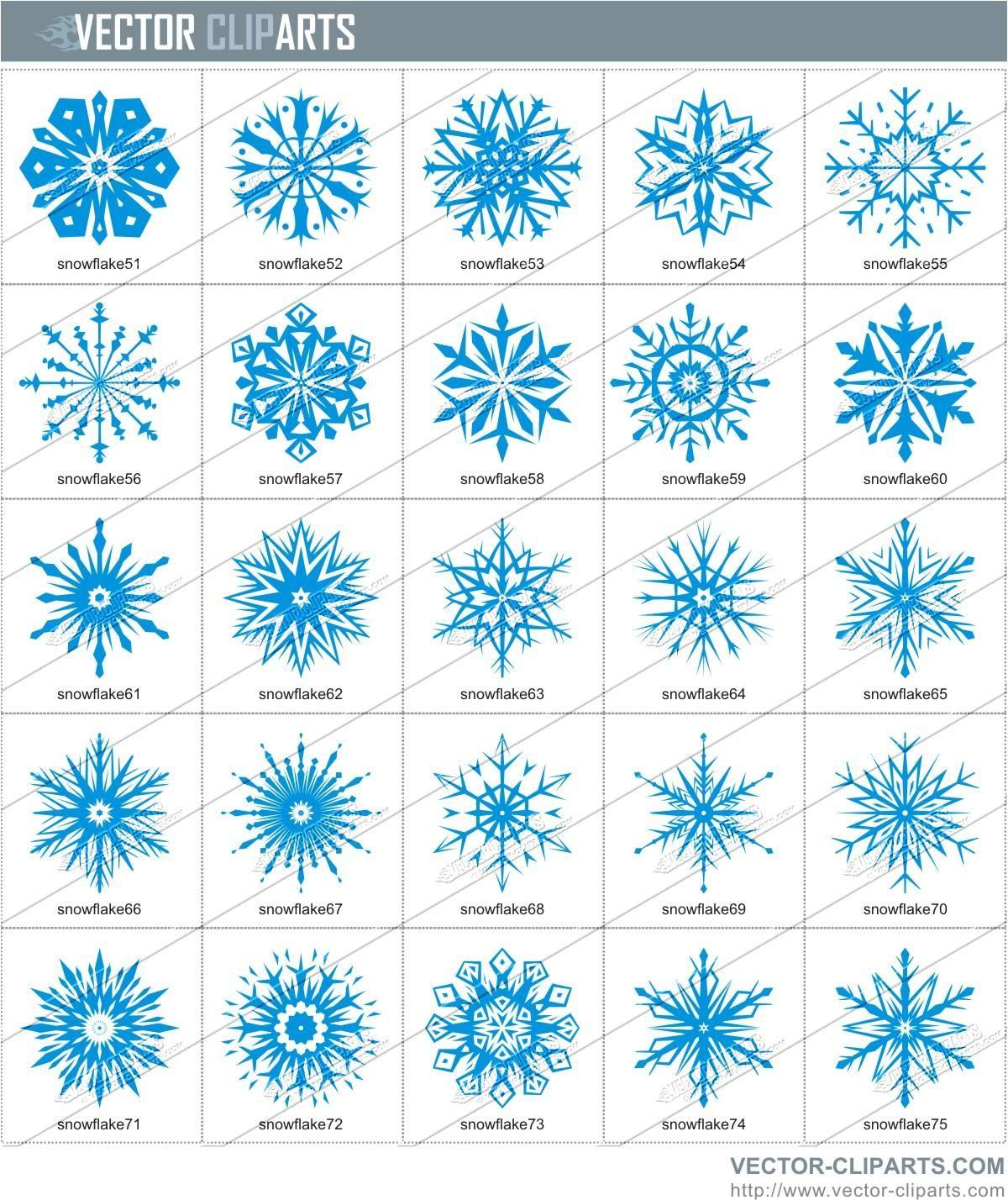 Snow flakes clip.