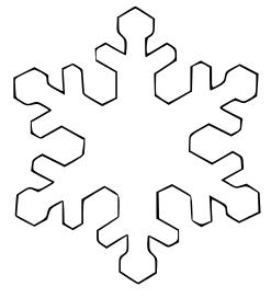 Free plain snowflake.