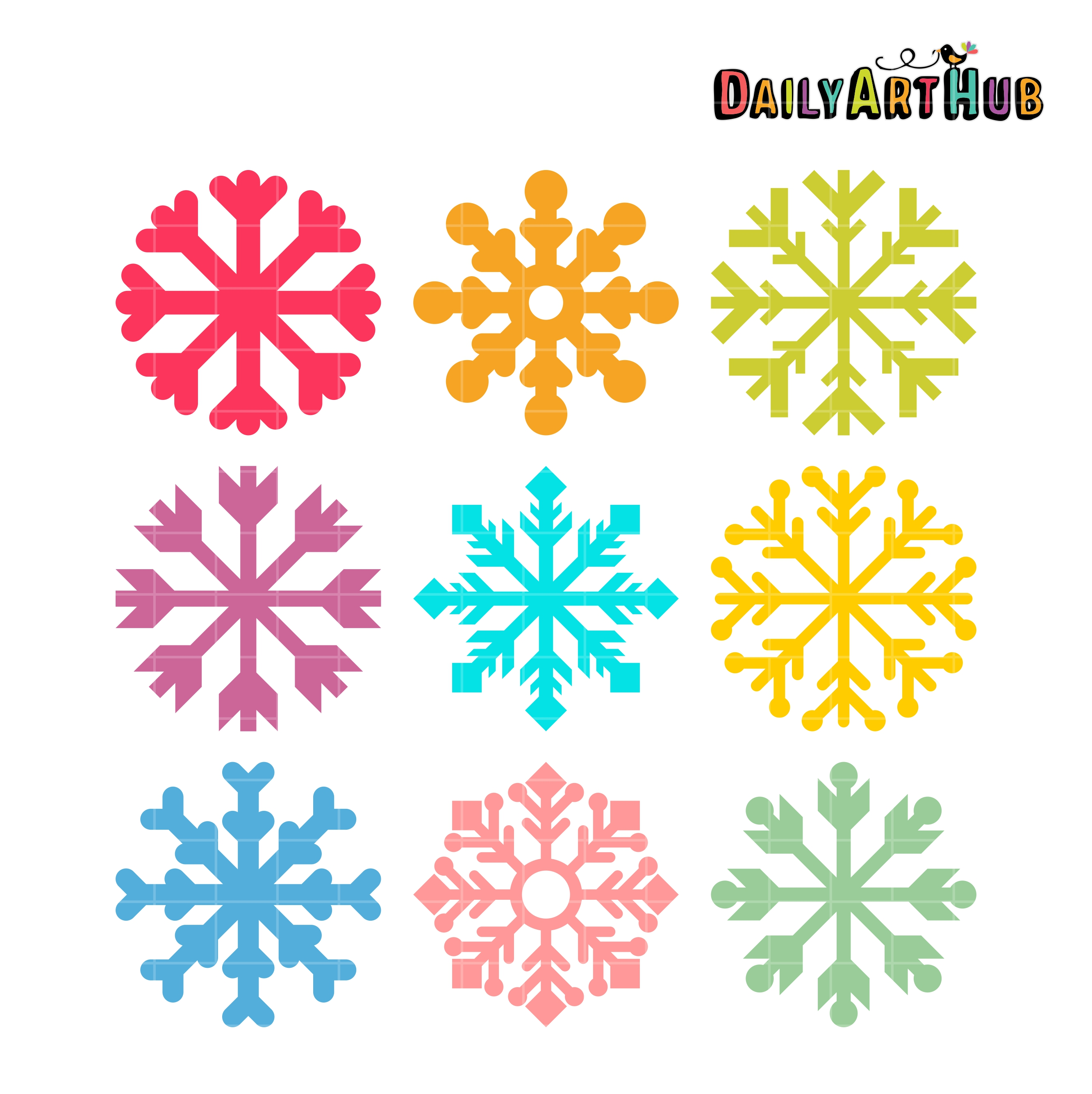 Simple snowflake clip.