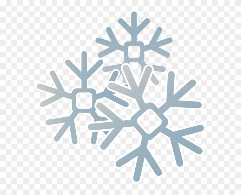 Snowflakes clip art.