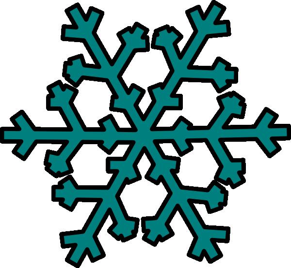 Teal snowflake clip.