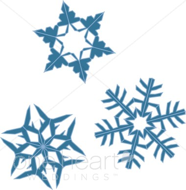 Teal snowflakes clipart.