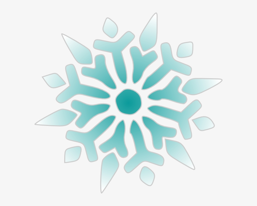 Snowflake clipart teal.