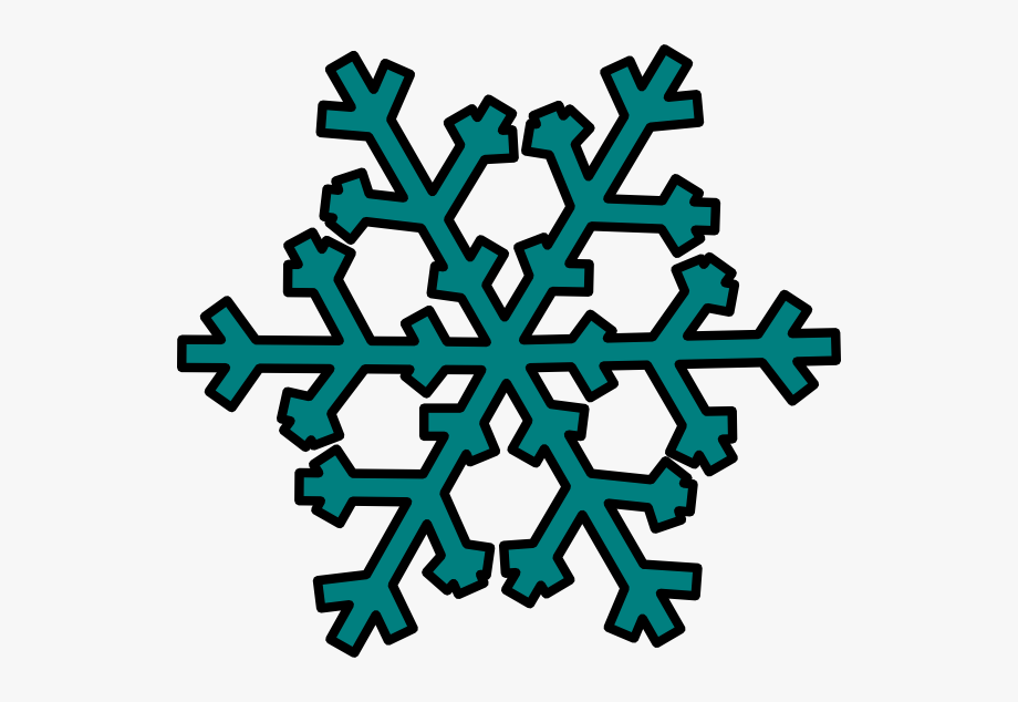 Snowflakes Clipart Teal