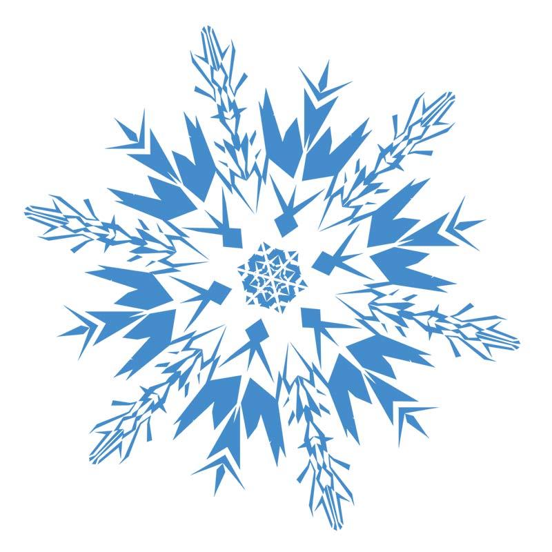 Free transparent snowflakes.