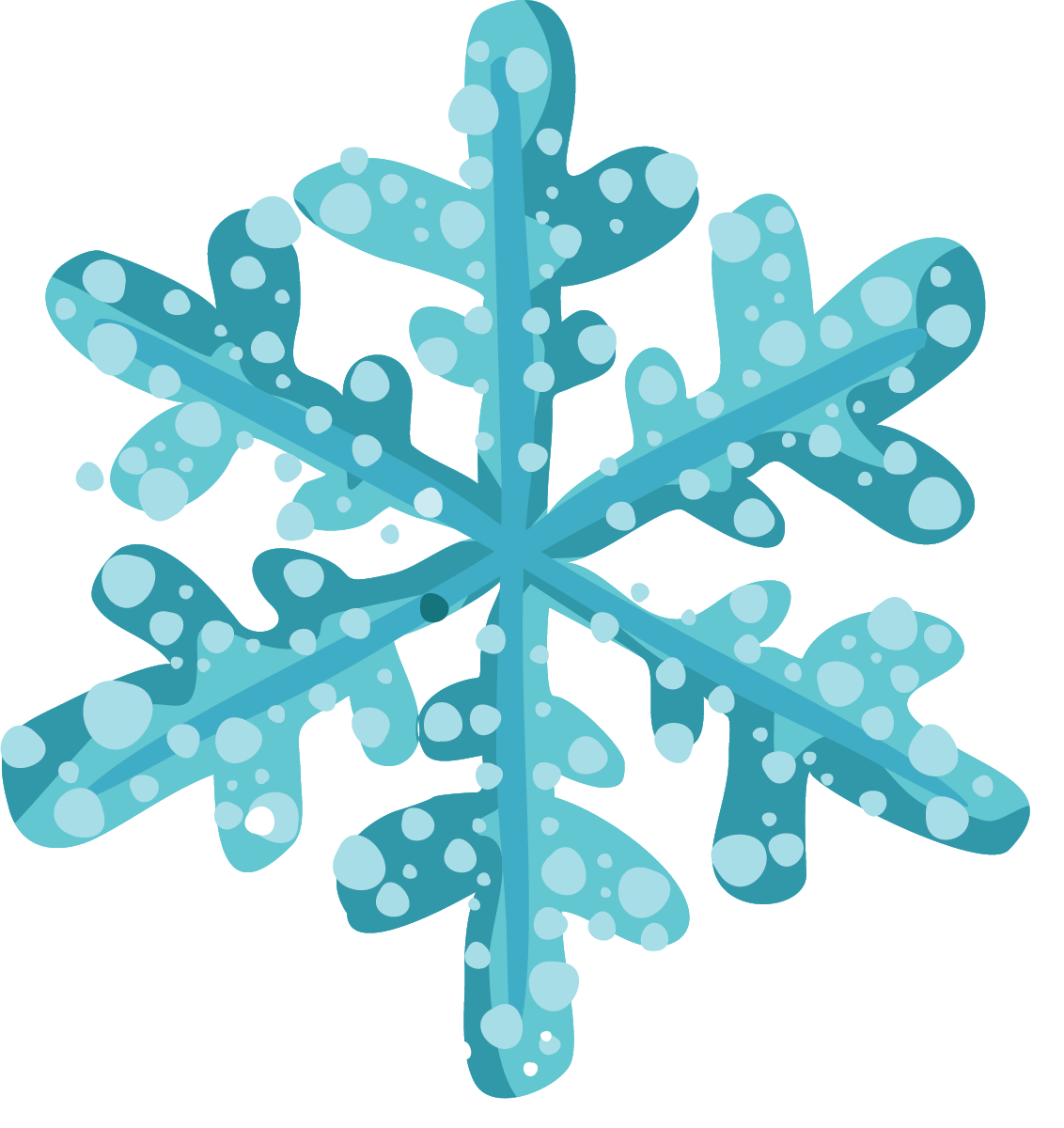 Free winter snowflakes.