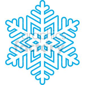 Winter snowflake vector.