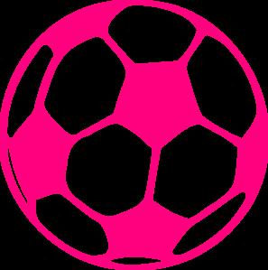 soccer ball clipart pink