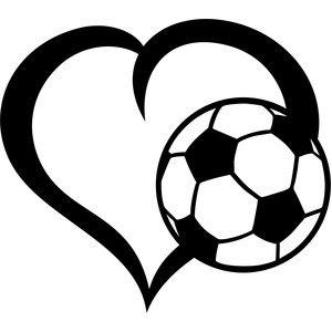 Ball soccer heart.