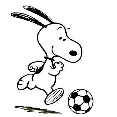 Snoopy the soccer.