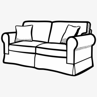 Couch Vector Pillow Clipart