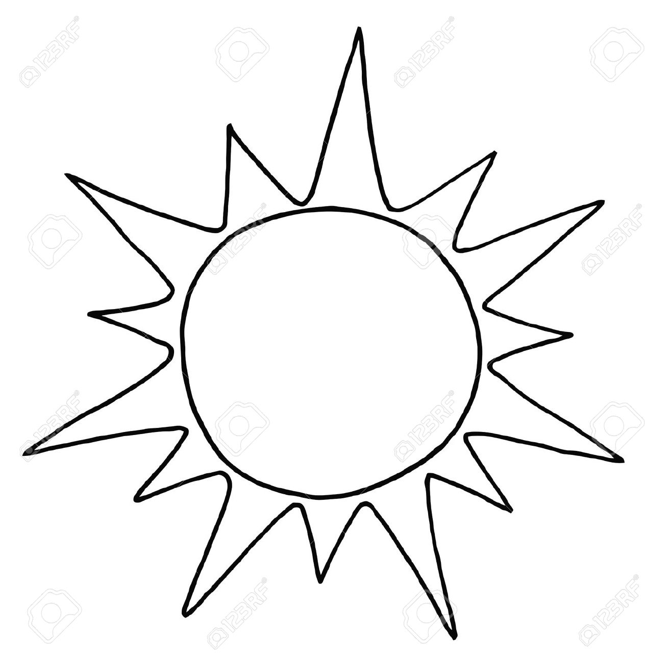 Sonne clipart schwarz wei