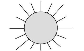 Sonne clipart schwarz.