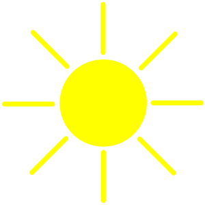 Sun Yellow clipart, cliparts of Sun Yellow free download