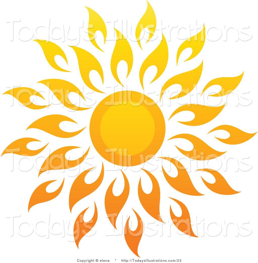 Sun drawings vector.