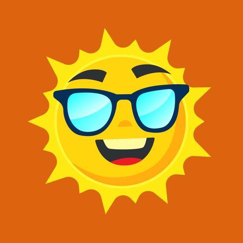Sonne mit brille.