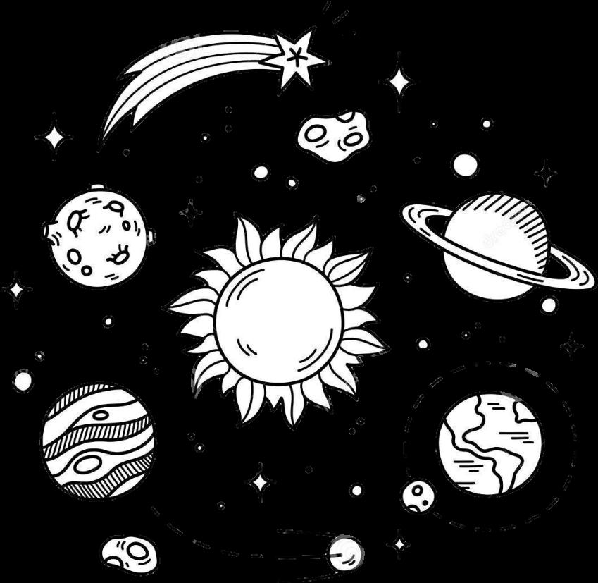 Stars space overlay.