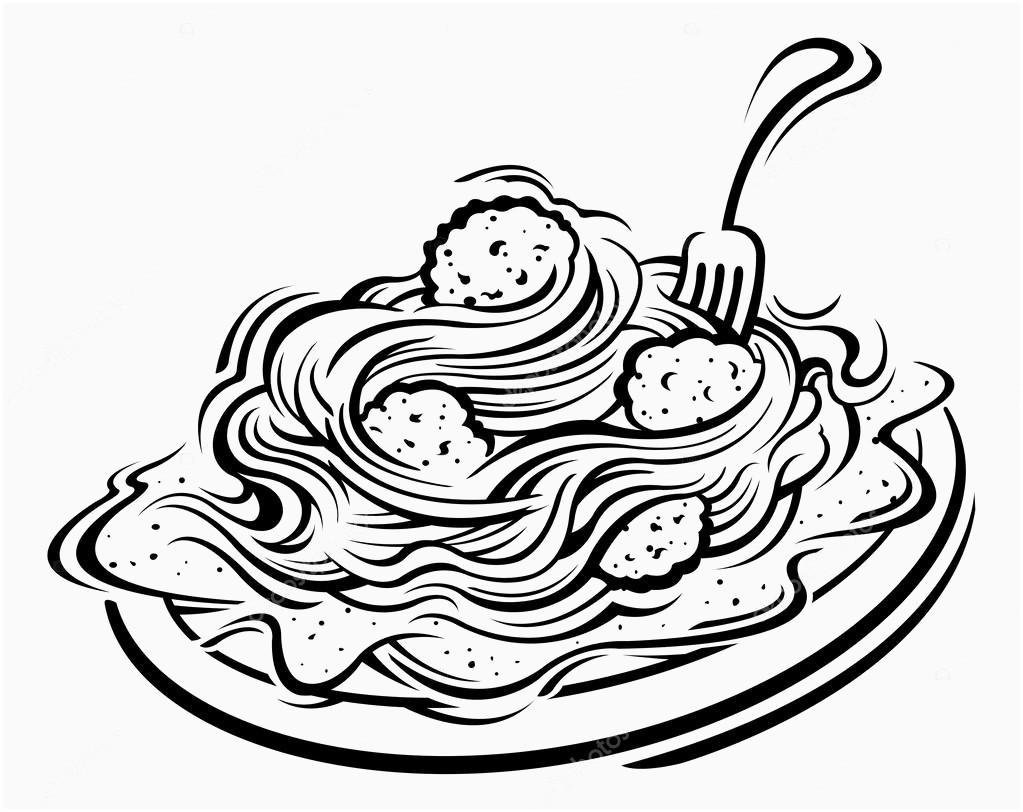Pasta drawing free.