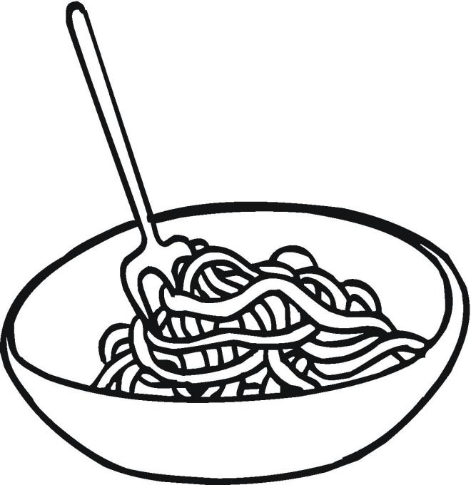 Spaghetti coloring pages.