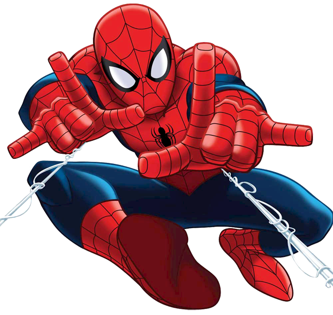 Spiderman clipart quality.