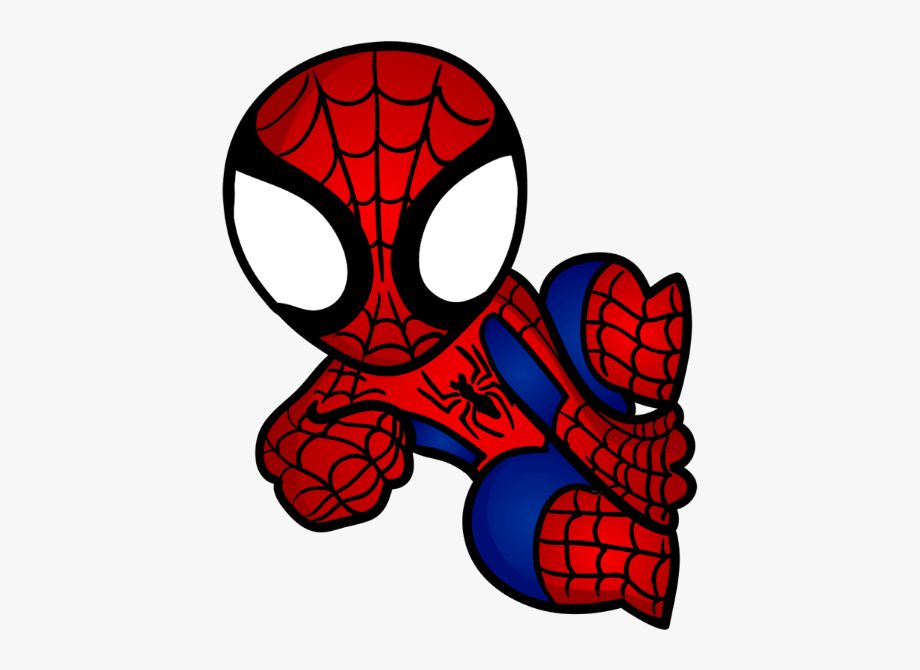 Spiderman clipart chibi.