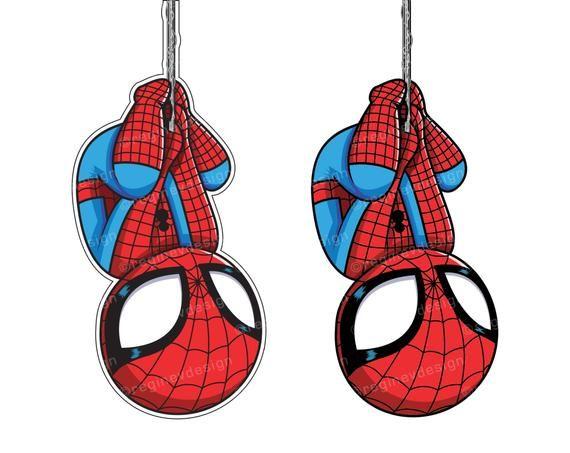 Spiderman clipart sticker.