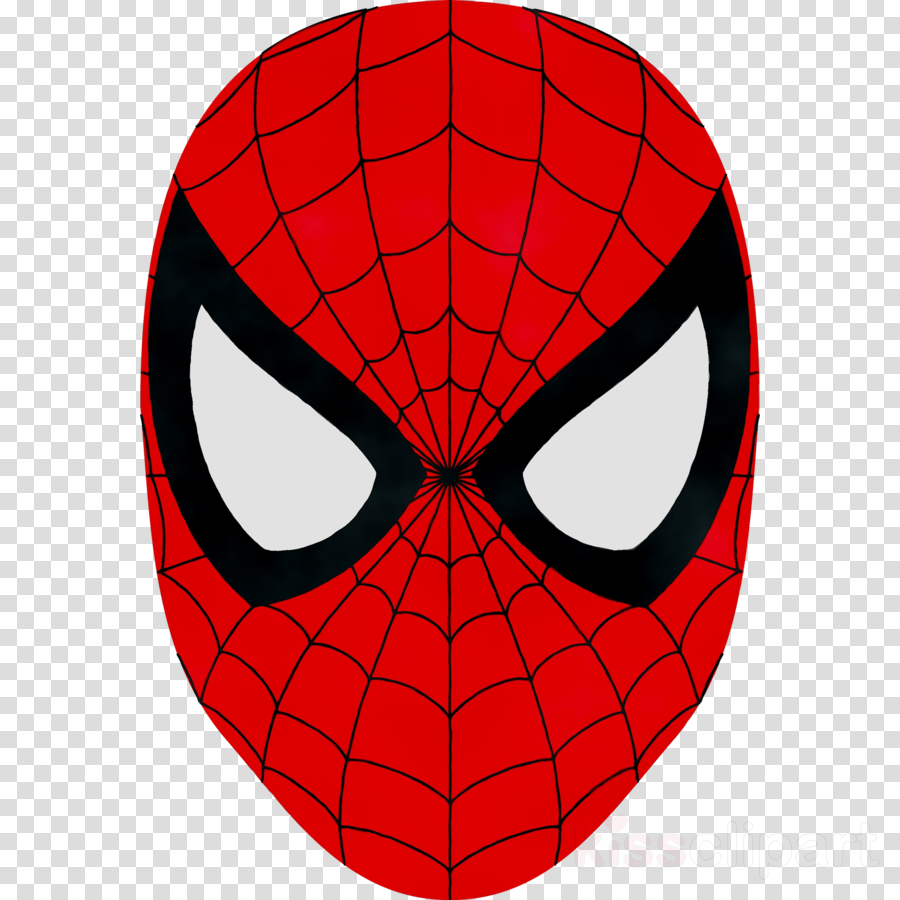 Spiderman mask clipart.