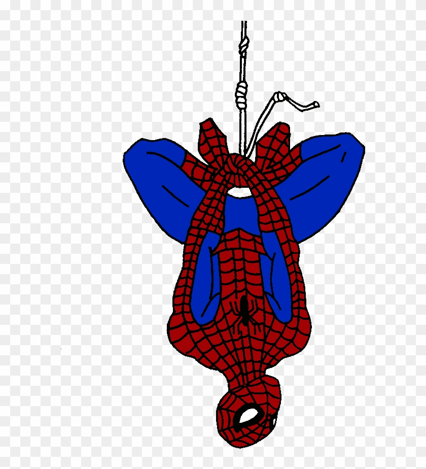 Spiderman clipart upside.