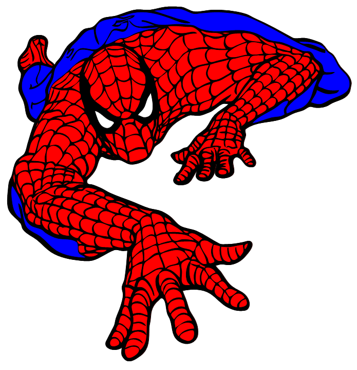 Spiderman scalable vector.