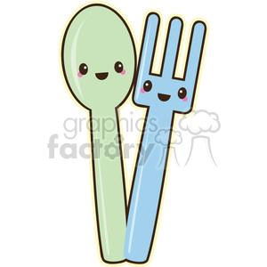 fork clipart cute