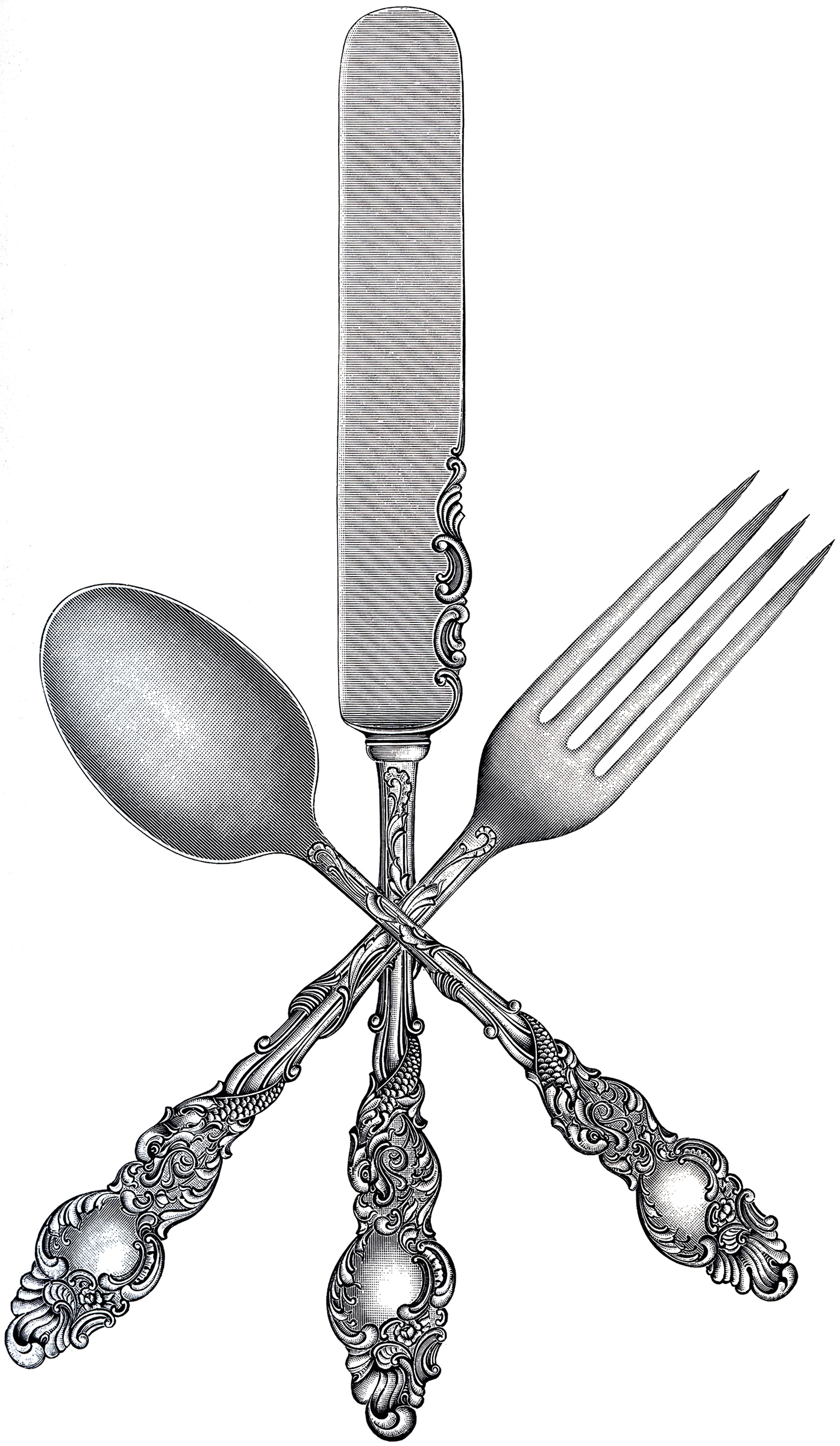 fork clipart fancy