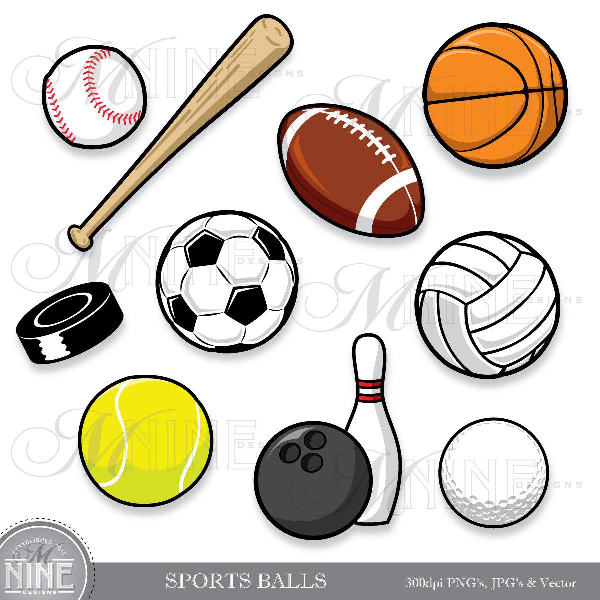 Sports clipart black.