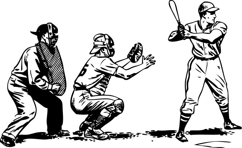 Baseball sports clipart.
