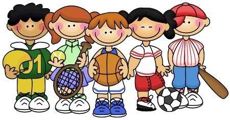 Kids playing sports.