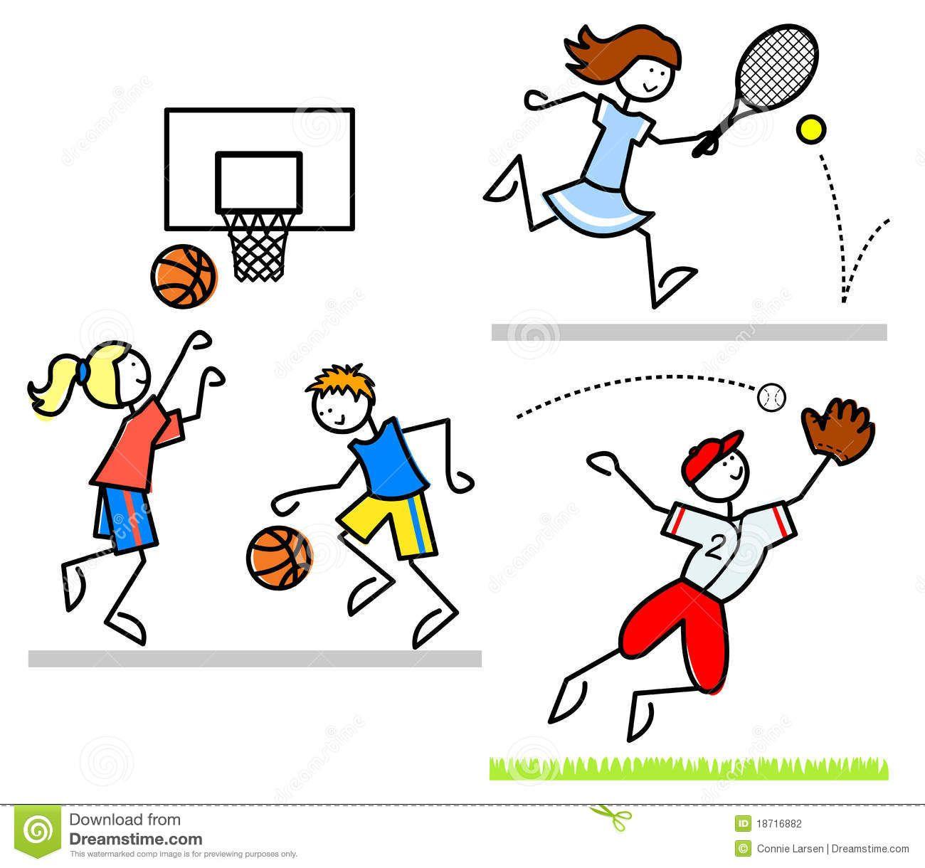 Sports cartoon kidseps.